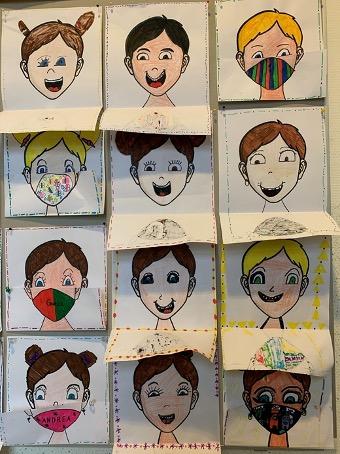 Kinder zeichnen Corona